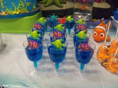 Jello cups at an Under the Sea Party #underthesea #partyjello