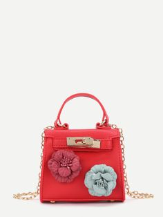 6e6214a213d0 Applique Flower Mini PU Shoulder Bag Гермес Биркин, Hermes Kelly,  Модельеры, Летняя Мода