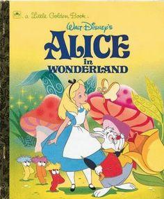 Little Golden Book Disney Alice In Wonderland