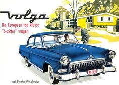 """Volga """"the Blue Peril"""" :P Bus Engine, Car Illustration, Illustrations, Car Posters, Car Advertising, Car Painting, Old Cars, Vintage Ads, Touring"""