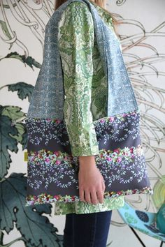 Amy Butler's Alchemy Studio Fabrics with a bag from Umami's Canvas Fabric World