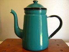 Enamel ware coffee pot