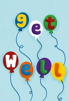 Free Printable Balloons Get well Card