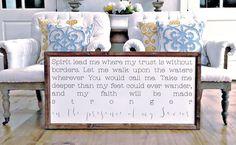 Wood Framed Signboard - Spirit Lead Me - XL - 45x23