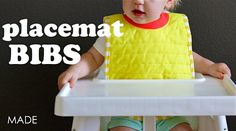 placemat bib tutorial and free pattern for vintage may //MADE
