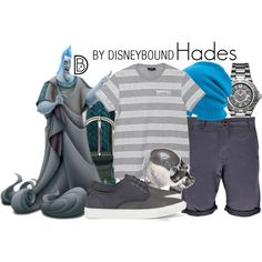 Hades by leslieakay on Polyvore featuring Allurez, Coal, Tod's, Emanuele Bicocchi, ALDO, Boohoo, disney, hercules, disneybound and MensFashion
