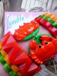 Nouveau Nouveauté crabe Bracelet et boucles doreilles