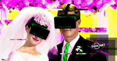 "This Couple Just Got Hitched In A Surreal Virtual Reality Wedding. Avatars gathered to witness the first couple to legally say ""I do"" in their headsets. It got a little awkward to say the least. Advertising Photography, Photography Business, Still Photography, Stand Up Comedy, White Wedding Dresses, Event Venues, Virtual Reality, Awkward, Martini"