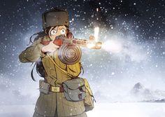 Anime Military, Military Girl, Guerra Anime, Gunslinger Girl, Character Art, Character Design, Military Drawings, Female Dragon, Anime Weapons