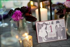 table numbers - How cute is this!?