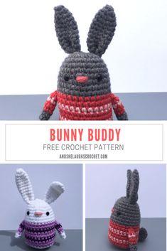 Bunny Buddy - Free Crochet Pattern - and she laughs crochet