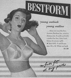 Bestform bra. Theirs were my favorite brassier ads. Always had the cutest pinup girls.
