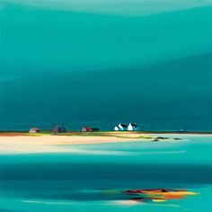 'Western Isles' by Pam Carter, Tanganyika, East Africa. Pam Carter is known for her expressive landscapes in a vibrant colour palette. Landscape Art, Landscape Paintings, Seascape Paintings, Painting Inspiration, Amazing Art, Awesome, Cool Art, Art Photography, Abstract Art