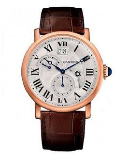 Cartier Rotonde Retrograde 18K Pink Gold Automatic Mens 42mm WATCH W1556240 ❤♒Thank❤You♒I❤❤❤You♒