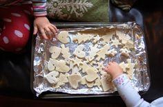 dry salt dough ornaments cookie sheet