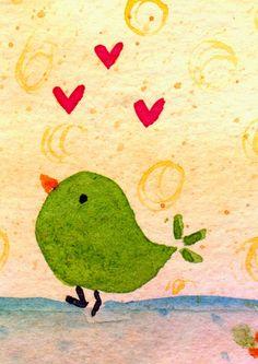 I love this little green bird