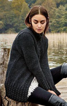 Lana Grossa Р–РђРљР Sweater Knitting Patterns, Coat Patterns, Knitting Designs, Zip Cardigan, Strick Cardigan, Alta Moda Alpaca, Crochet Wool, Wool Vest, Knitting Magazine