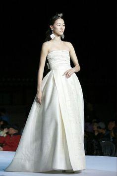 Runway wedding hanbok dress