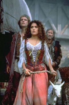 Salma Hayek as the gypsy Esmeralda in The Hunchback of Notre Dame (1997)