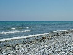 Stony sea shore