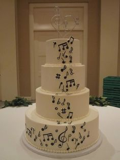 musical wedding cakes - Google Search