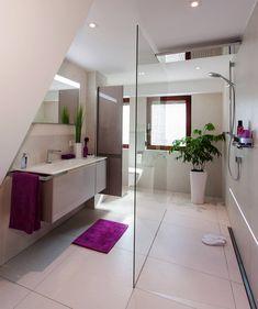 Duschbad mit offener Dusche