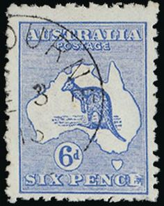 Australian 6 pence stamp issued 1913
