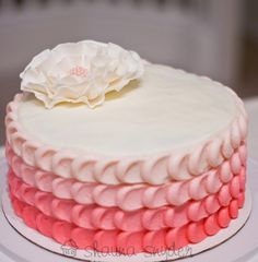 Ombre-Petal-Cake. This is cute, but I'm thinking green and blue ;)