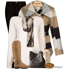 """Plaid Coat"" by lv2create on Polyvore"
