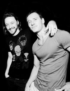 James McAvoy and Michael Fassbender at Comic Con in San Diego, CA.  July 20, 2013.