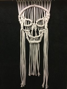 Macrame skull wall hanging art on Etsy, $160.00 AUD