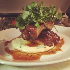 Smoked Honey Sriracha Glazed Ribs with goat cheese polenta watercress salad and herbs #food #truecooksfoodporn #foodie #foodpic #foodgasm #foodlove #foodporn #foodstarz #foodstagram #igboston #ilovefood #instafood #instagood #chefstalk #cheflife #chef #delicious #dontshootthechef #foundryonelm #truecooks #myfab5 #kitchenlife #chefsofinstagram #theartofplating #stillville #hipsterfoodofficial #boston #amazingflavors#TrueCooksStreetTeam #thekitchenassassin by fratello_sandroj34