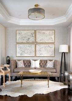 Exquisite Gold Coffee Table For The Contemporary Living Room From Cocoon Furnishings Design Toronto Interior Group
