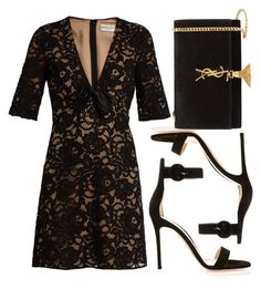 """""""street style"""" by sisaez ❤ liked on Polyvore featuring Yves Saint Laurent and Gianvito Rossi"""