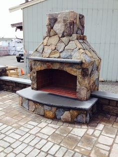 48 Contractor Series Outdoor Fireplace Kit With Natural Stone Veneer