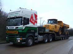 Scania with 5 axle ramp trailer......