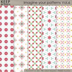 Imagine your papers - Patterns Vol.6 , cudigitals.com, cu, commercial, scrap, scrapbook, digital, graphics,