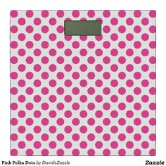 Pink Polka Dots Bathroom Scale Available on many products! Hit the 'available on' tab near the product description to see them all! Thanks for looking!  @zazzle #art #polka #dots #shop #home #decor #bathroom #bedroom #bath #bed #duvet #cover #shower #curtain #pillow #case #apartment #decorate #accessory #accessories #fashion #style #women #men #shopping #buy #sale #gift #idea #fun #sweet #cool #neat #modern #chic #laptop #sleeve #black #orange #blue #pink #white