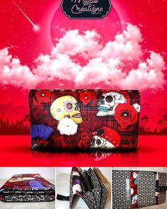 Marie créations sur Instagram: Maintenant qu'il a été offert, je vous le montre. Commande spéciale pour Noël. Portefeuille en tissu velours Punky, tissu japonais Riad…