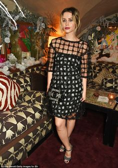 Party girl:Billie JD Porter rocked a cute LBD for the fashion party...