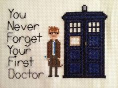 You never forget your first doctor - Doctor Who Cross-stitch by clare_bear_83 on Craftster.org