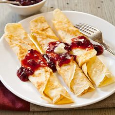 Swedish Pancakes with Lingonberry Butter and Lingonberry Preserves