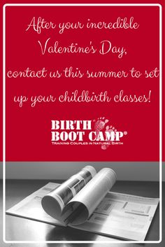 You'll be needing online childbirth classes once you find out about your REAL Valentine's Day gift!