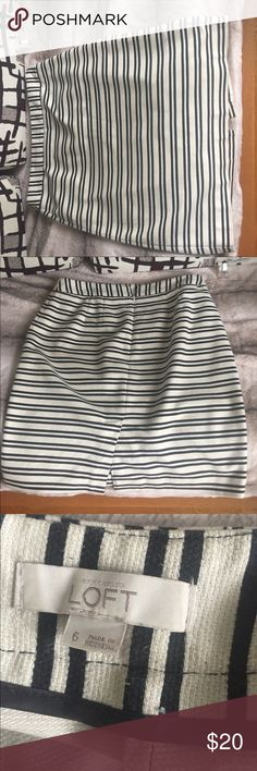 Skirt Black and white skirt, used but in good  condition. LOFT Skirts Mini