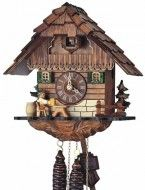 Black Forest Beer Drinker Cuckoo Clock - made by hand in Germany.