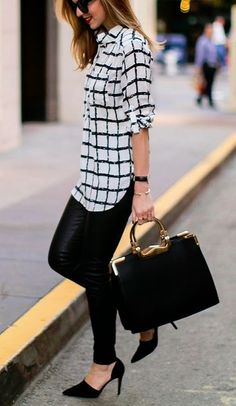 Simple top, black leggings and black heels. Love this outfit and easy to recreate. Could definitely find all this using my student discount on studentrate