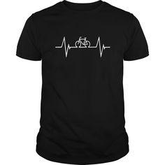 Bike heartbeat tshirt bicycle cycling mountain bike shirt