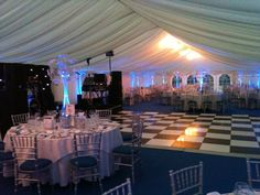 Blue & Silver theme - #marqueehireuk #marqueehire #Notts #Derby #Leicester #weddings #corporate #events