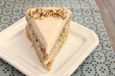 Apple Spice Cake with Cinnamon Cream Cheese Frosting ~ http://www.bakeorbreak.com