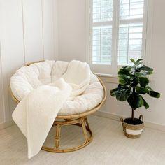 Reading Corner Discover Papasan Chair Frame with Cushion Cute Room Decor, Teen Room Decor, Room Ideas Bedroom, Bedroom Decor, Bedroom Frames, Bedroom Designs, Design Room, Home Design, Comfy Bedroom Chair